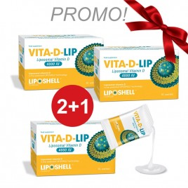 Vitamina D Lipozomala VITA-D-LIP 4000UI, 30 plicuri LIPOSHELL PROMO 2+1 GRATIS