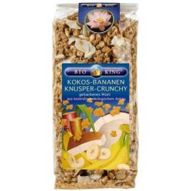 Musli Crocant Cocos-Banane Bio 375g Bioking