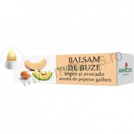 Balsam de Buze cu Ulei de Argan, Avocado si Pepene Galben 4.8g Manicos