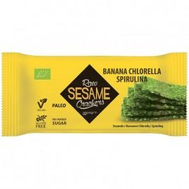 Crackers Raw Susan - Banane, Spirulina, Chlorella Bio 20g Papagrin