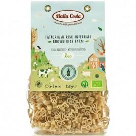 Paste din Orez Brun fara Gluten Farm Bio 250g Dalla Costa