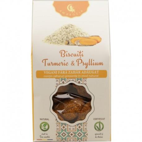 Biscuiti Vegani cu Turmeric si Psyllium 150g Ambrozia