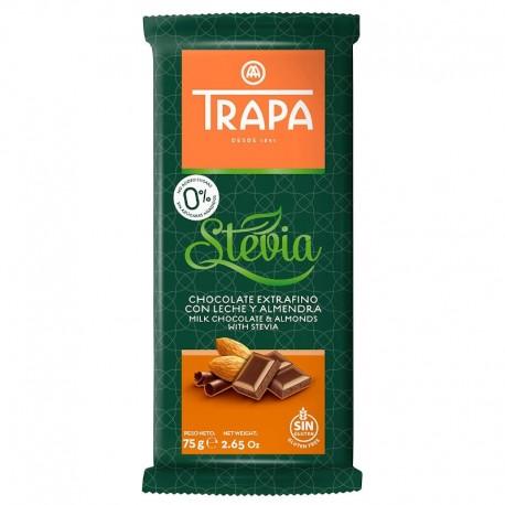 Ciocolata cu Lapte si Migdale Stevia 75g Trapa