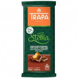 Ciocolata cu Lapte si Alune Stevia 75g Trapa