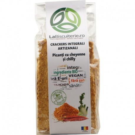 Crackers Integrali Artizanali Picanti Cayenne si Chilli 125g LaBiscuiterie
