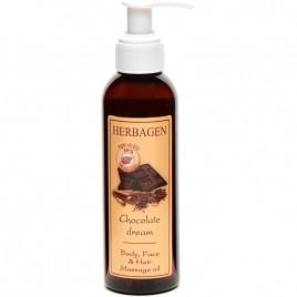 Ulei de Masaj pentru Corp, Fata si Par Chocolate Dream 150ml Herbagen