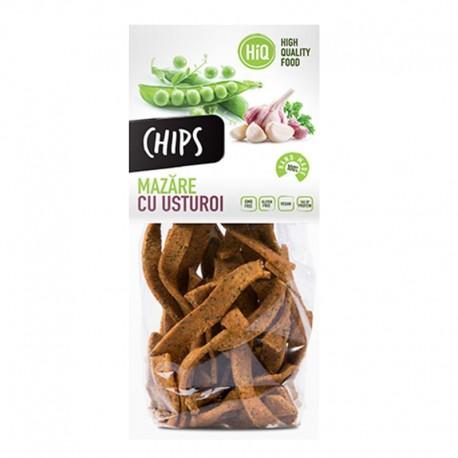 Chips din faina de mazare cu aroma de usturoi 80g High Quality Food