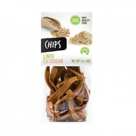 Chips din faina de linte cu seminte de susan 80g High Quality Food