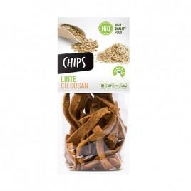 Chips din faina de linte cu seminte de susan 80g High Quality Food