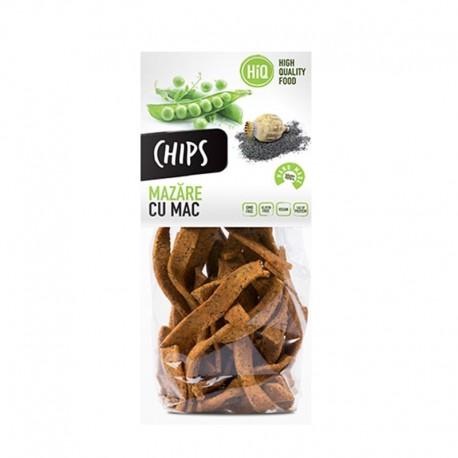 Chips din faina de mazare cu seminte de mac 80g High Quality Food