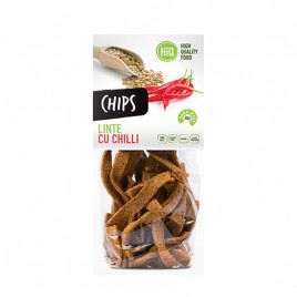 Chips din faina de linte cu chilli 80g High Quality Food