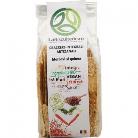 Crackers Integrali Artizanali cu Morcovi si Quinoa 125g LaBiscuiterie