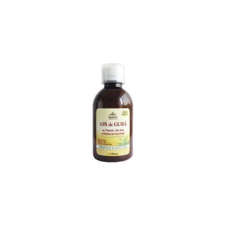 Apa de Gura cu Propolis, Aloe Vera si Extract de Ceai Verde 250ml Apidava