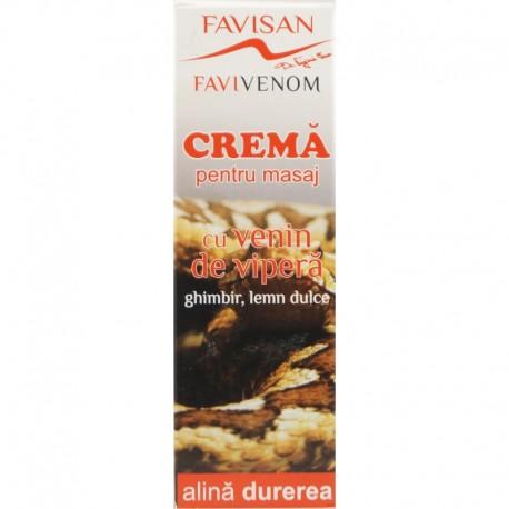 Favivenom Crema pentru Masaj cu Venin de Vipera 50ml Favisan
