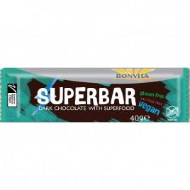Superbar – Baton Vegan de Ciocolata Neagra Bio 40g Bonvita