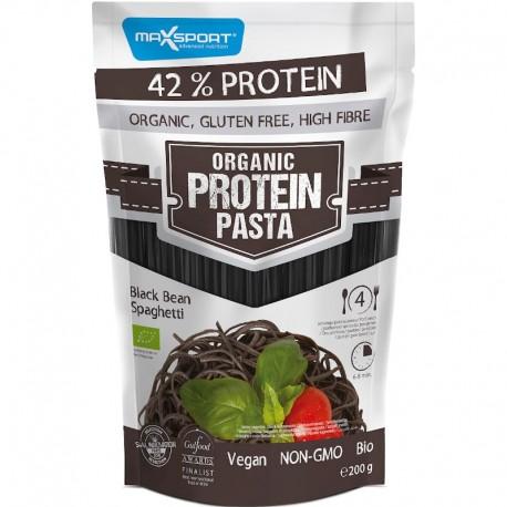 Paste Proteice cu Fasole Neagra Spaghete Bio 200g Maxsport