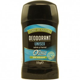 Deodorant Stick Unisex Salvie si Hamei 55g Verre de Nature