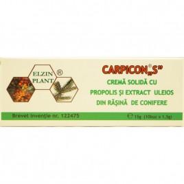 Carpicon S - Crema Solida cu Propolis 15g (10buc x 1.5g) Elzin Plant