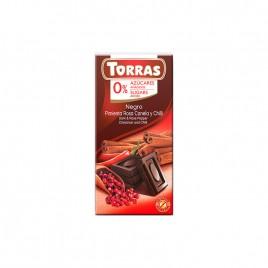 Ciocolata Neagra cu Piper Roz, Scortisoara si Chilli 75g Torras