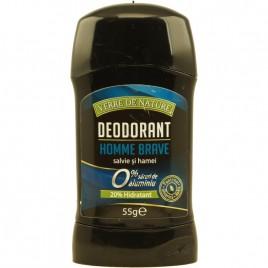 Deodorant Stick Homme Brave Salvie si Hamei 55g Verre de Nature