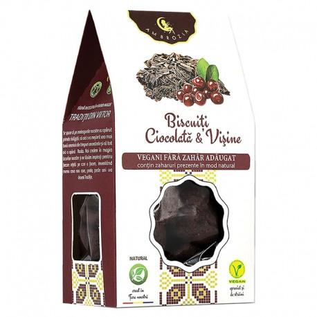 Biscuiti Vegani Ciocolata Visine 150g Hiper Ambrozia