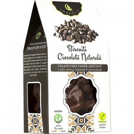 Biscuiti Vegani Ciocolata Naturala 150g Hiper Ambrozia