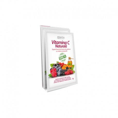 Vitamina C Naturala din Fructe de Padure cu Miere Propolis 1dz - 5g Zenyth