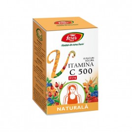 Vitamina C Naturala Solubila 500mg F174 10plicuri Fares