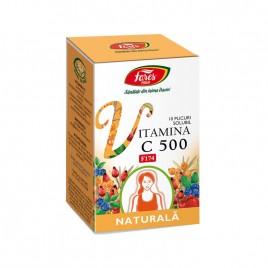 Vitamina C Naturala Solubila 500mg F174 1 plic Fares
