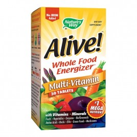 Multivitamine Alive fara Fier adaugat 30tb Natures Way