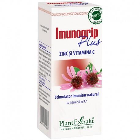 Imunogrip Plus Zinc si Vitamina C 50ml Plantextrakt