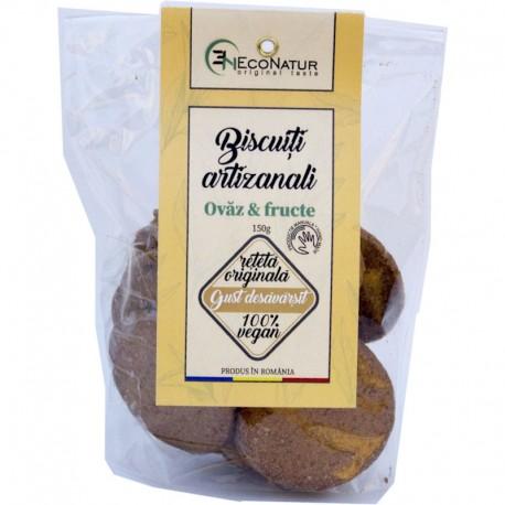 Biscuiti Artizanali Ovaz si Fructe 150g EcoNatur