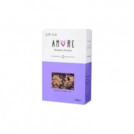 Amore Blueberry Granola – Musli fara Gluten Coacaze Bio 250g Bio Style