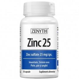 Capsule Zinc 25 30cps Zenyth Pharmaceuticals