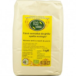 Faina Semialba din Grau Spelta Bio 1kg Ecomania