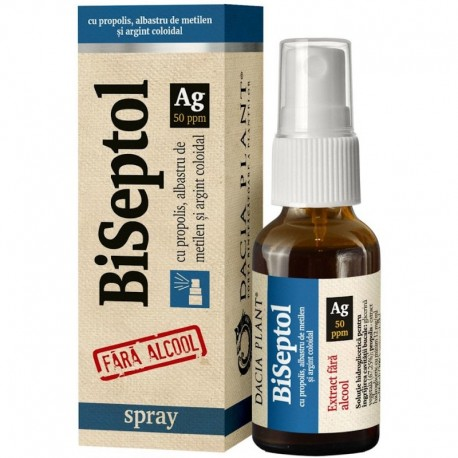 Spray fara alcool BiSeptol 20ml Dacia Plant