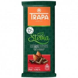 Ciocolata Neagra 80 cu Stevie 75g Trapa