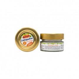 Praf de Dinti Vegan pentru Curatare cu Portocale 30g Birkengold