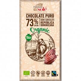 Ciocolata Neagra 73 Cacao Bio 100g Chocolates Sole