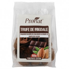 Trufe de Migdale in Ciocolata cu Lapte 100g Pronat