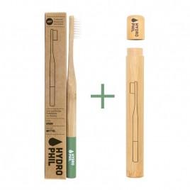 Pachet promo: Periuta de Dinti din Bambus - Medium Verde + Toc Periuta de Dinti din Bambus Hydrophil