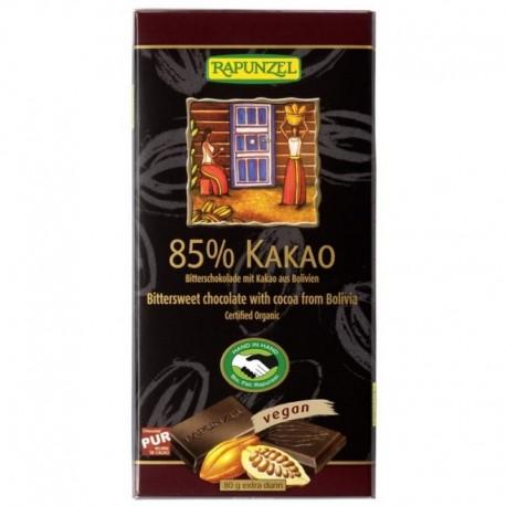 Ciocolata Amaruie 85 Cacao - Eco 80g Rapunzel