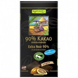 Ciocolata Amaruie 90% Cacao si Zahar din Flori de Cocos Bio 80g Rapunzel
