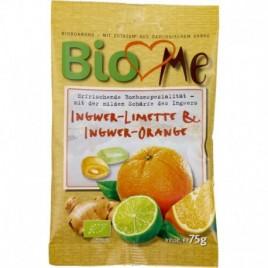 Bomboane Ghimbir-Lime si Ghimbir-Portocale Bio 75g Bio Loves Me