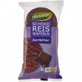 Rondele de Orez Expandat cu Ciocolata Amaruie Bio 100g Dennree