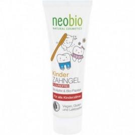 Pasta de dinti - Gel Vegan pentru Copii cu Mar si Papaya 50ml Neobio