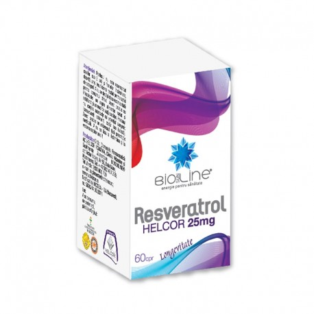 Resveratrol 25mg 60cmp Helcor