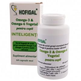 Omega 3-6 Vegetal pentru Copii Inteligenti 60cps Hofigal