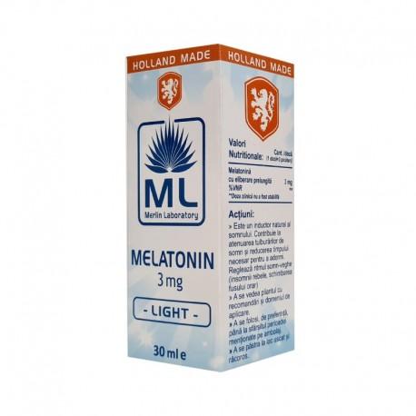 Melatonin Light 3mg 30ml Laboratoarele Merlin