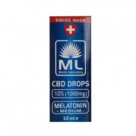 Ulei CBD 10% - Melatonin Medium 10ml Laboratoarele Merlin